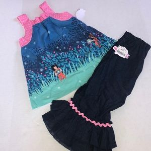 NWT Lolly Wolly Doodle Size 6 Fireflies Set